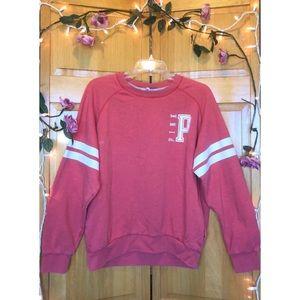 Pink crewneck pullover
